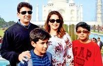 Madhuri Dixit and family on India darshan