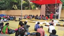 Left outfits demand Prof Saibaba's release, hold protest at Jantar Mantar