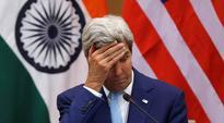 John Kerry's visit to Delhi makes a 'splash', literally