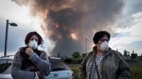 Massive fire in tyre dump near Madrid; 9,000 people evacuated