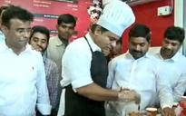 Telangana CM's son KTR sells ice-cream for his party, KCR to follow suit next week