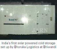 Subsidy for Solar Powered Cold Storages