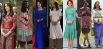 At the Taj Mahal, Kate Middleton Wears Naeem Khan Dress