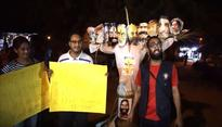 PM Modis effigy burnt at JNU: Rahul Gandhi represents degradation of Congress, says BJP