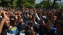 Thousands protest in Kashmir despite ban 11hr
