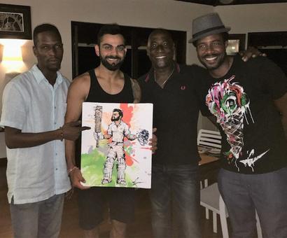 A special gift for India captain Kohli from Viv Richards's son!