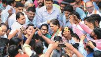 CM Vasundhara Raje visits households as Booth Vistarak
