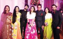 Shraddha Kapoor with family at best friend's engagement