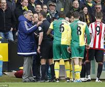 Sam Allardyce involved in altercation with Norwich City's Cameron Jerome after Robbie Brady pushes De Andre Yedlin