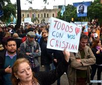 Supporters of Argentina's ex-president take part in demonstration