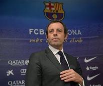 Former Barcelona president Sandro Rosell arrested over alleged money laundering