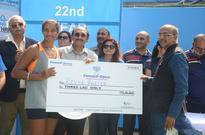 Vishnu Vardhan & Riya Bhaita wins the Fenesta Open 2016 title