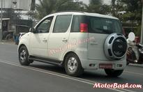 Mahindra Quanto 4×4 spied testing in India