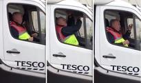 WATCH: Tesco delivery driver belts out hysterical rendition of La Bamba from his van