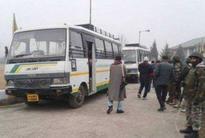 Karvan-e-Aman bus leaves for Kaman Post to cross over to PoK