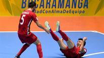 Futsal World Cup: Iran beat Brazil 3-2 on penalties