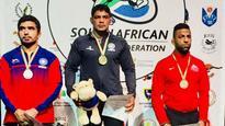 Sushil Kumar wins gold at Commonwealth Wrestling Championships