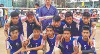 State Level Mini Boys Volleyball Tournament SYWC defeat YPC to lift trophy