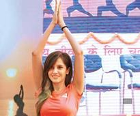 Koyal Rana and Sangram Singh's Yoga Day out in CP