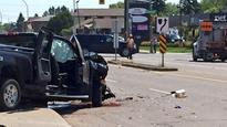 Thunder Bay police investigating collision at Arthur and Edward Streets