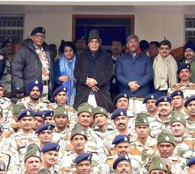 Be vigilant along China border: Rajnath Singh to forces