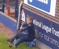 Stockport County Ball Boy Steals The Show With 'The Dab' Dance, And Goes Viral