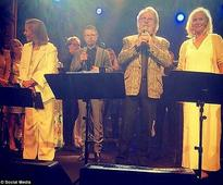 ABBA's Benny Andersson and Bjorn Ulvaeus join Simon Fuller for dinner in London