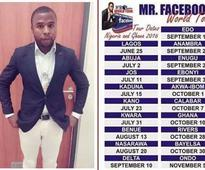 What this man plans to do to all his facebook friends will amaze you (photo/video)