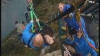 Ed Sheeran and Sir Peter Jackson's daughter give adventure swing a nudge