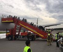Plane Catches Fire Moments After Emergency Landing