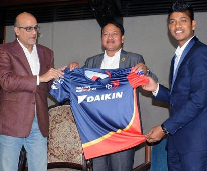 PHOTOS: Nepal's Lamichchane gets his IPL jersey