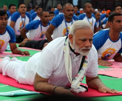 PHOTOS: Welcome to PM Modi's yoga class