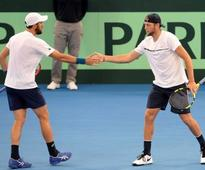 Davis Cup: USA's Jack Sock, Steve Johnson win doubles to keep quarter