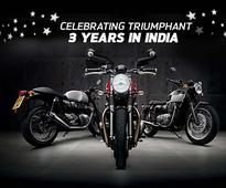 Triumph Motorcycles Celebrates 'Triumphant' Three Years In India