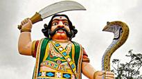 Demons at work? Crack in sword of Mahishasura on Chamundi Hills