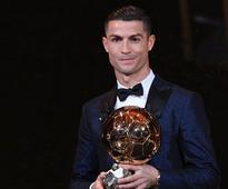 Cristiano Ronaldo wins Ballon dOr award for 5th time