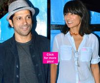 Farhan Akhtar and Adhuna Akhtar Bhabani SPOTTED together at Baar Baar Dekho wrap up bash for the FIRST TIME post separation  view HQ pics!