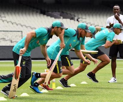 Ashes: Sprint legend Usain Bolt working on Australia's 'explosiveness'