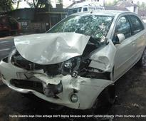 Toyota Innova Crysta's all 7 airbags deploy, without much if's and but's