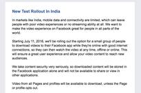 Facebook Imitates Youtube; Introduces Offline Video Downloads!
