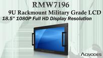 Military Grade Rackmount Monitor Features 18.5 Inch Full HD with Resistive Touch Screen and ITO Glass EMI Protection
