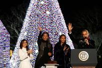 Obamas light up National Christmas Tree for last time
