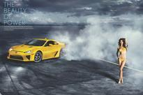 Throwback Thursdays: Supercar LFA Drifts Around S.I. Supermodel