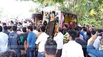 Two seriously injured as bus overturns in Kozhikode