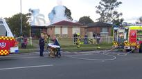 Girl, 9, fights for life after 'hero' neighbour rescues her from Doonside house fire