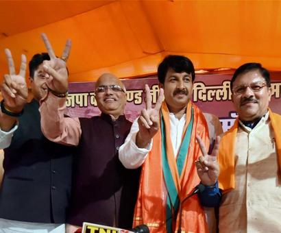 BJP sinks AAP, Congress in Delhi civic polls