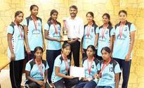 Jeppiaar institute girls win basketball finals