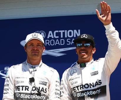'Hamilton and Rosberg feeling the pressure'