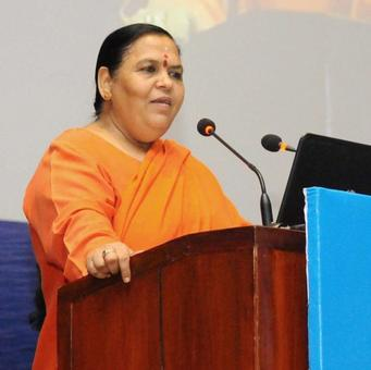 Use of red beacon okay if minister on official visit: Uma Bharti