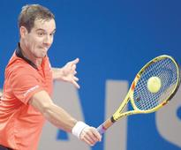 Gasquet quits with groin injury